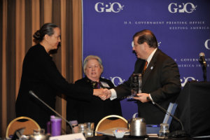 Martha Accepting Award